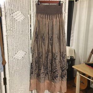 Lapis Boho Strapless Maxi Dress